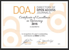 Editor's certificate
